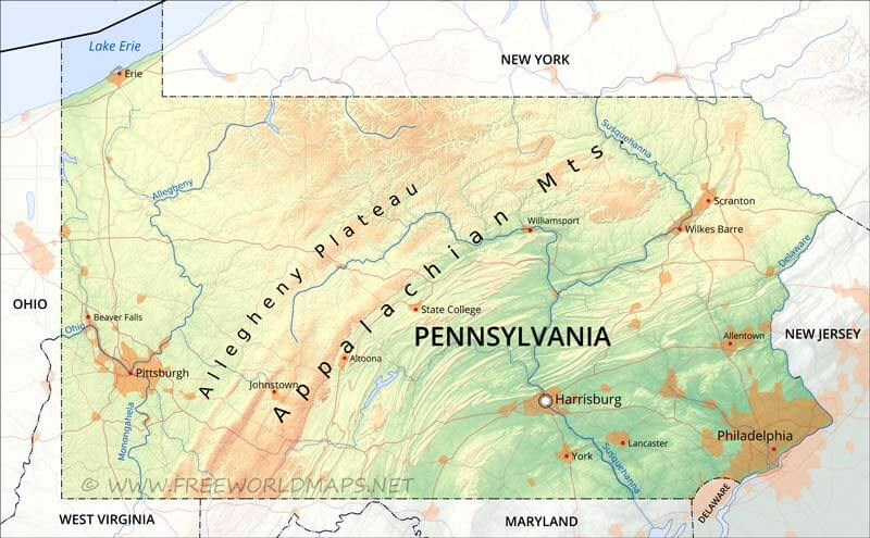 Counties Pittsburgh Map Pa