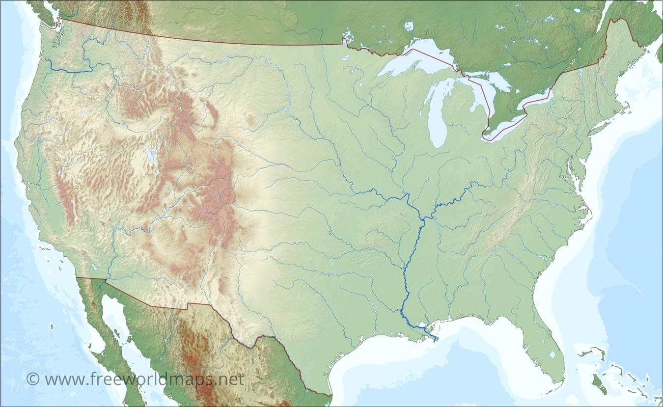 Every sentence has you on. Us Rivers Map