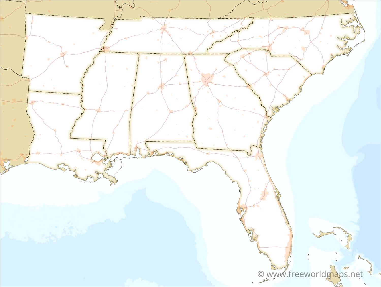 Southeastern Us Political Map