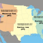 Us Time Zones Map