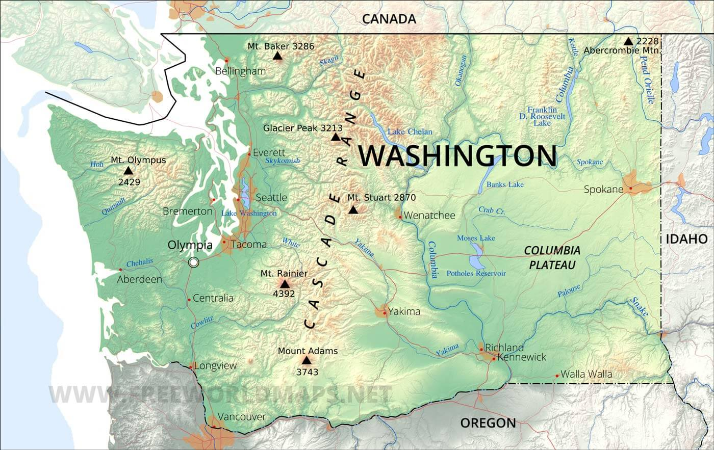 Washington State Rivers Worksheet