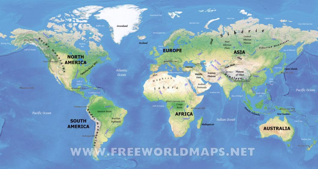 World map hd pics wallpapergenk physical world maps features of the gumiabroncs Images