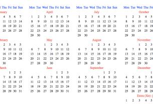 Hanke-Henry Permanent Calendar