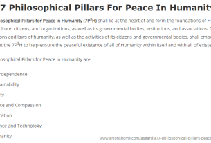 The 7 Philosophical Pillars For Peace In Humanity