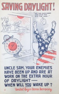 Uncle Sam, you enemies have been up and are at work on the extra hour of daylight. when will you wake up.