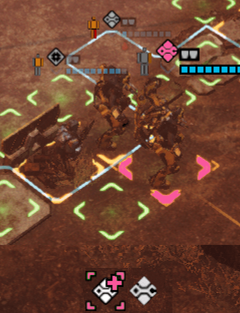 Distinguishing the healer with pink coloring and removing green cross from other soldier's icon (Phoenix Point)