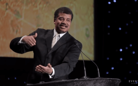 Neil deGrasse Tyson giving keynote speech @ 28th National Space Symposium in 2012