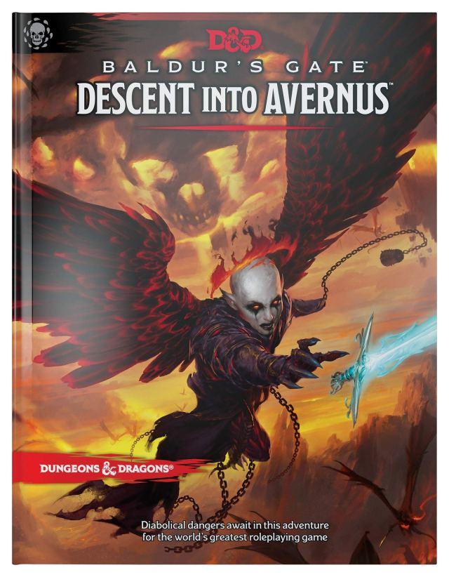 Standard Book Cover for WotC's adventure path: Balder's Gate: Descent to Avernus
