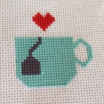 tea love free cross stitch pattern preview