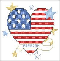 freedom-patriotic-heart pattern preview