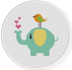 Cute Elephant and Bird Freebie