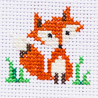 cute little fox free cross stitch pattern