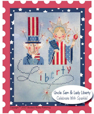 uncle sam and lady liberty free cross stitch pattern 4th of july