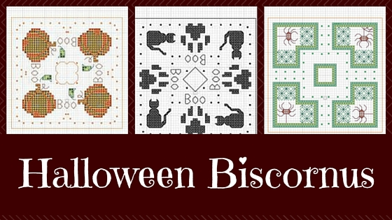 3 Halloween Biscornu Free Cross Stitch Patterns