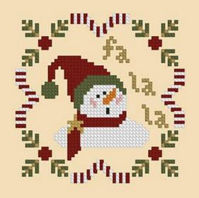 Fa La La Snowman Ornament