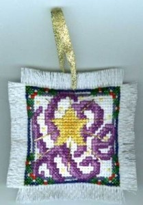 hope holiday ornament free cross stitch pattern