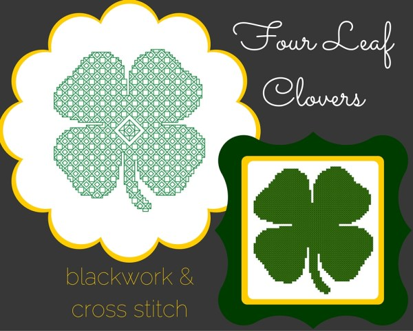 four leaf clover free cross stitch pattern