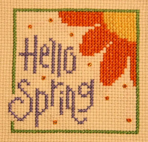 Hello spring lizzie kate free cross stitch pattern