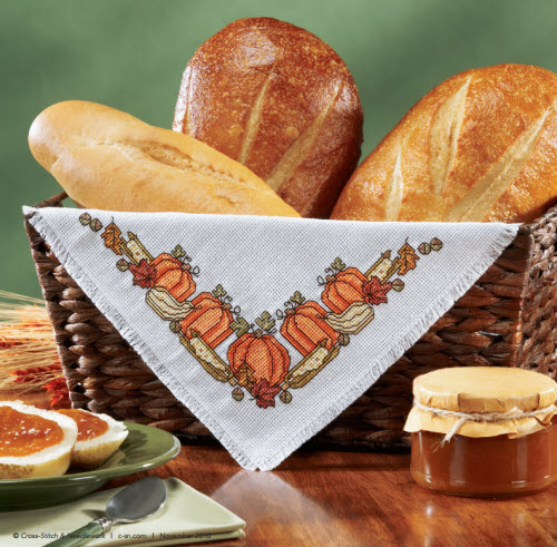 autumn harvest corner free cross stitch pattern