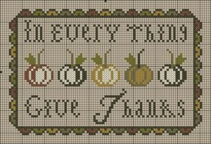 In Everything Give Thanks Free Cross Stitch Pattern from Plum Street Samplers