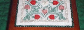 Jane Bostocke's Strawberries free cross stitch and embroidery pattern