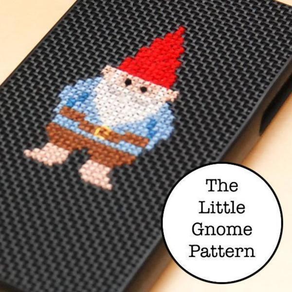 little gnome free cross stitch pattern