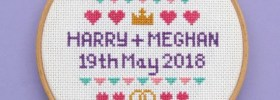 Free Cross Stitch Pattern Celebrating the Royal Wedding of Prince Henry to Meghan Markle