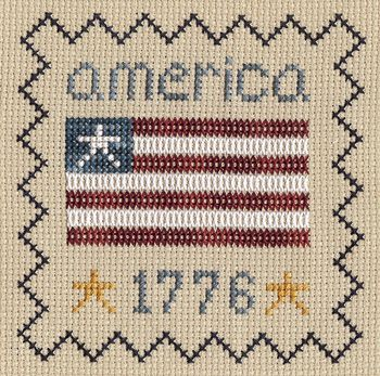 America 1776 free cross stitch pattern from The Gentle Art