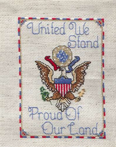 United We Stand free cross stitch pattern from Sandra Parlow