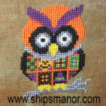 Halloween Owl Free Cross Stitch Pattern from Ship's Manor