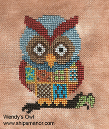 Wendy's Owl Free Cross Stitch Pattern from Ship's Manor