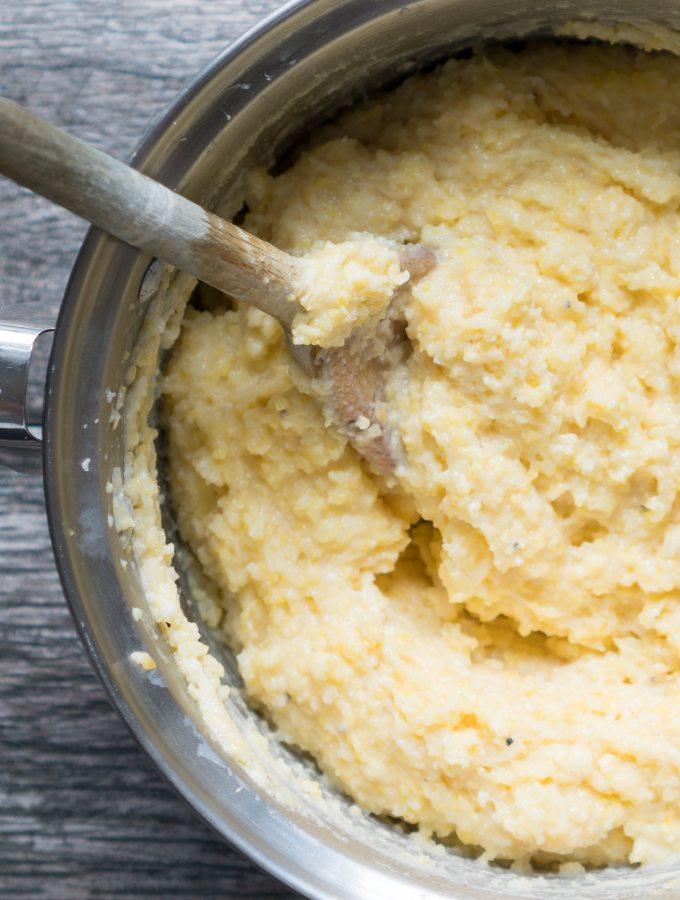 Creamy Parmesan Polenta Side