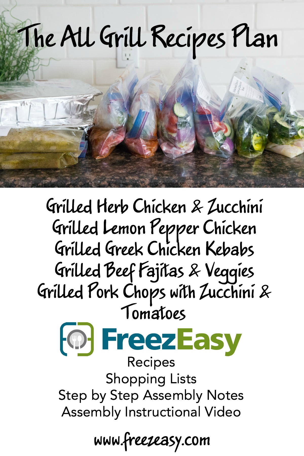 New Summer Freezer Cooking Meal Plans from FreezEasy