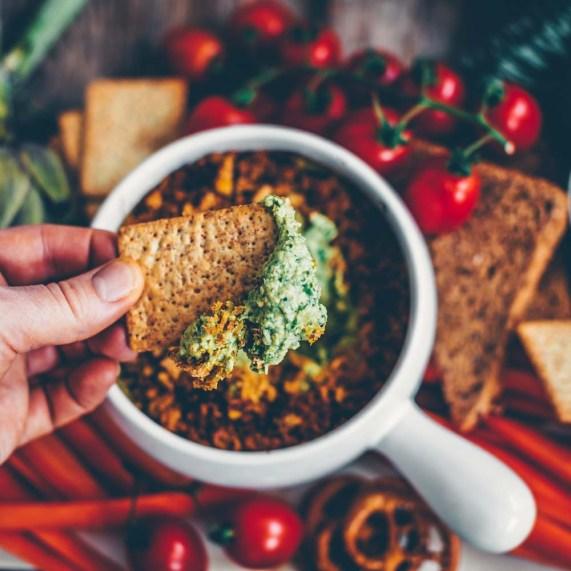 Spinat Artischocken Dip vegan