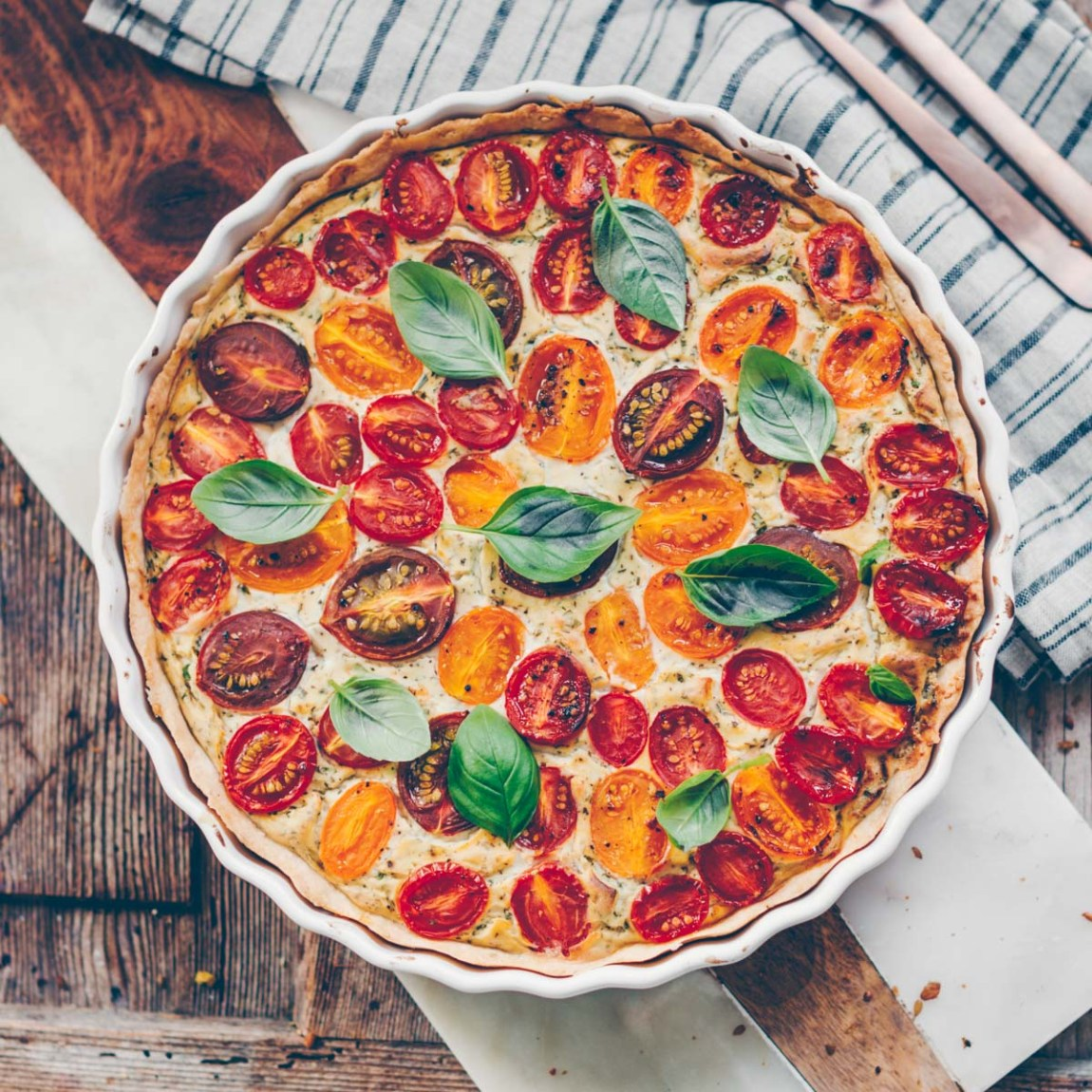 Tomatenwähe ohne Ei vegan
