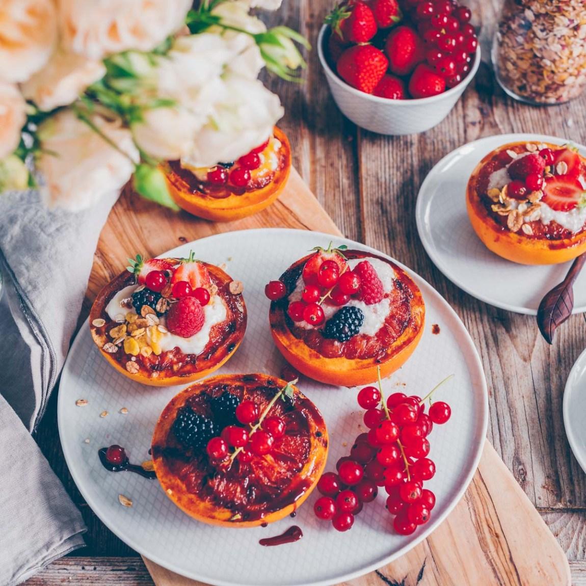 Gegrillte Grapefruit