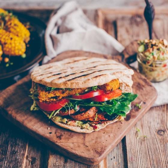 Pita Sandwich vom Grill