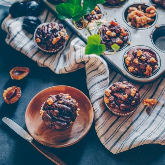 Zwetschgen-Schokoladen Muffins