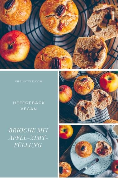 Brioche mit Apfel-Zimt-Füllung