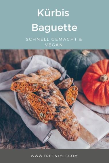 Kürbis Baguette vegan