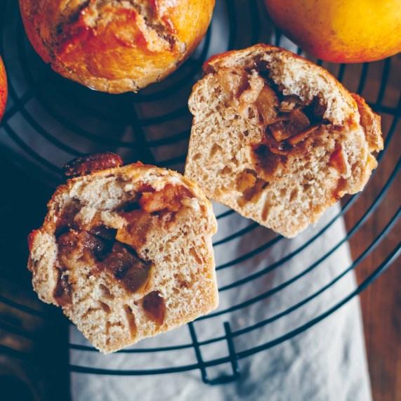 Brioche mit Apfel Zimt Füllung