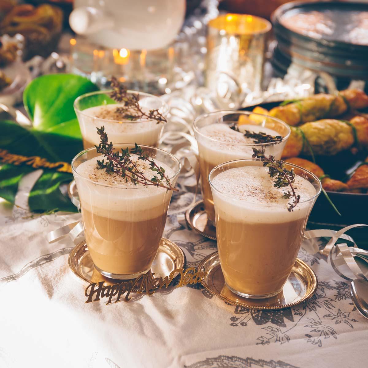 Silvester Party: Pilz-Cappucchino vegan