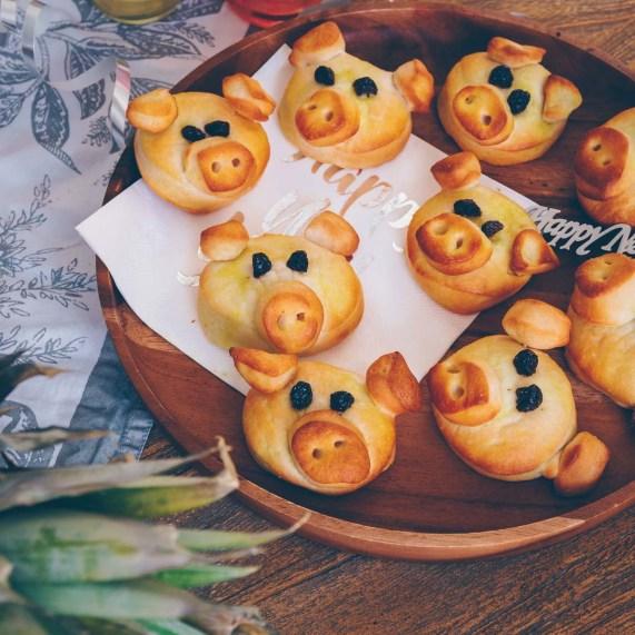 Glücksschweine Silvester vegan