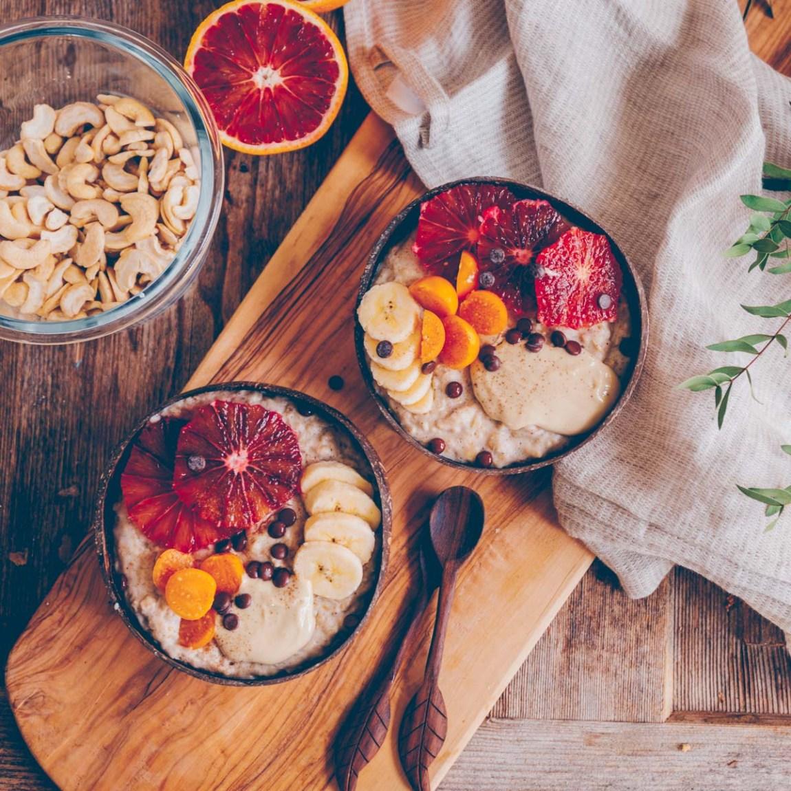 Porridge mit Cashewmilch