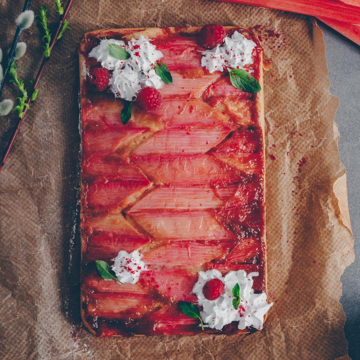 Rhabarberkuchen - vegan