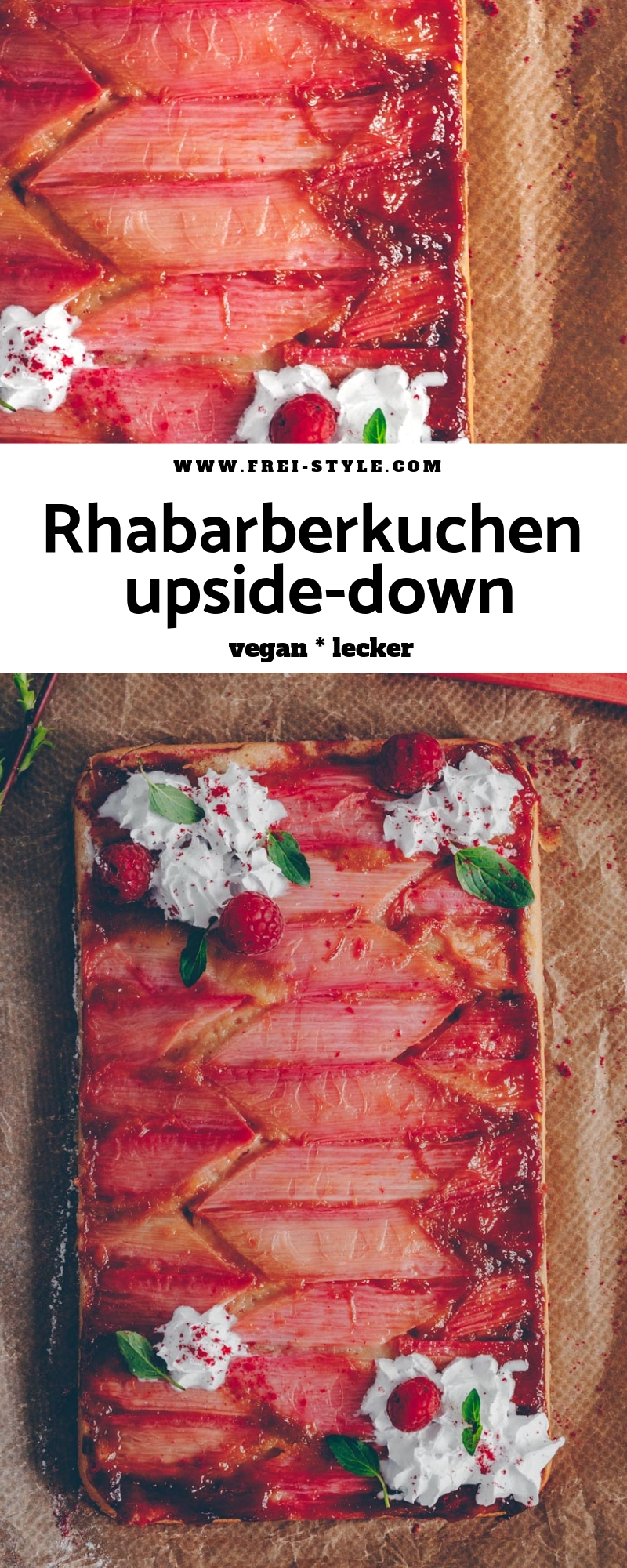 Rhabarberkuchen upside-down