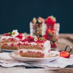 Strawberry rhubarb tiramisu