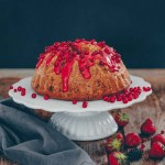 Red currant yogurt  bundt cake