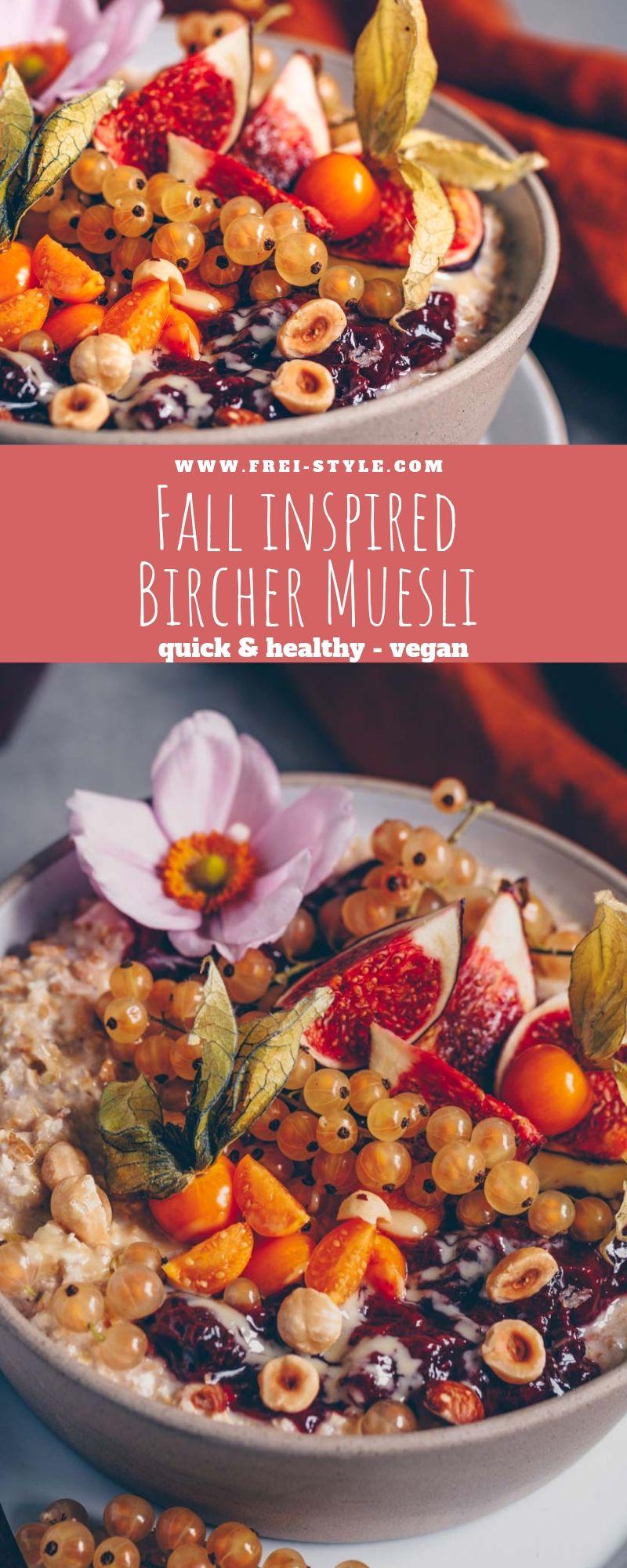Autumnal Bircher Muesli