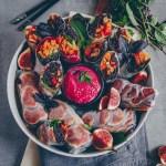 Herbstrollen mit Rote-Bete-Tahini Dip